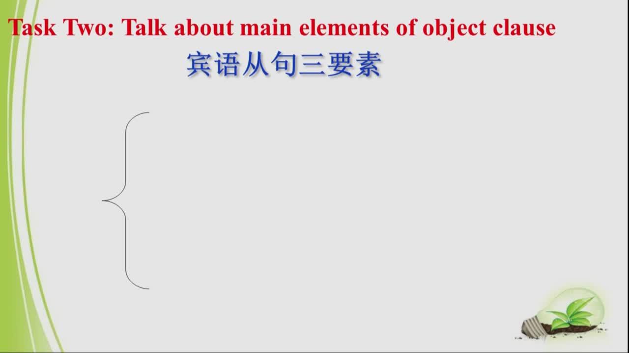 中考英语复习微课:宾语从句