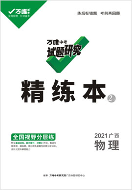 2021【万唯中考】广西试题研究精练本物理