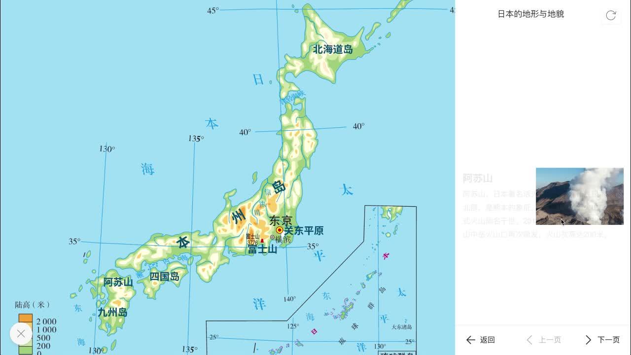7.1 日本的地形与地貌-【火花学院】人教版七年级地理下册 第七章 我们邻近的地区和国家  第一节 日本 [来自e网通客户端]
