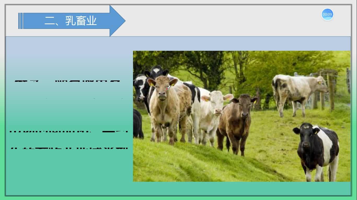 3.3乳畜业(第二课时)《以畜牧业为主的农业地域类型》微课 ①乳畜业分布 ②乳畜业区位因素 ③乳畜业生产特点