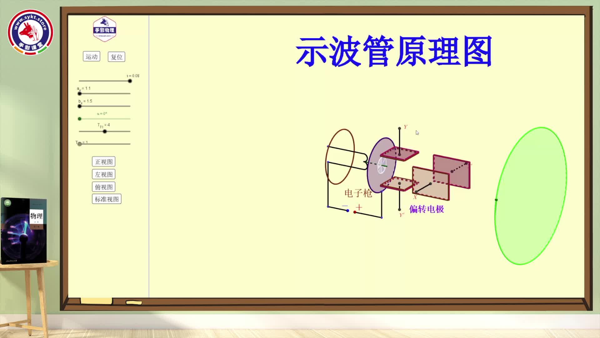 (视频)10.5带电粒子在电场中的运动—拓展学习:示波管的原理(教材同步精讲)-【手影物理】2021版高中物理必修第三册(人教版)