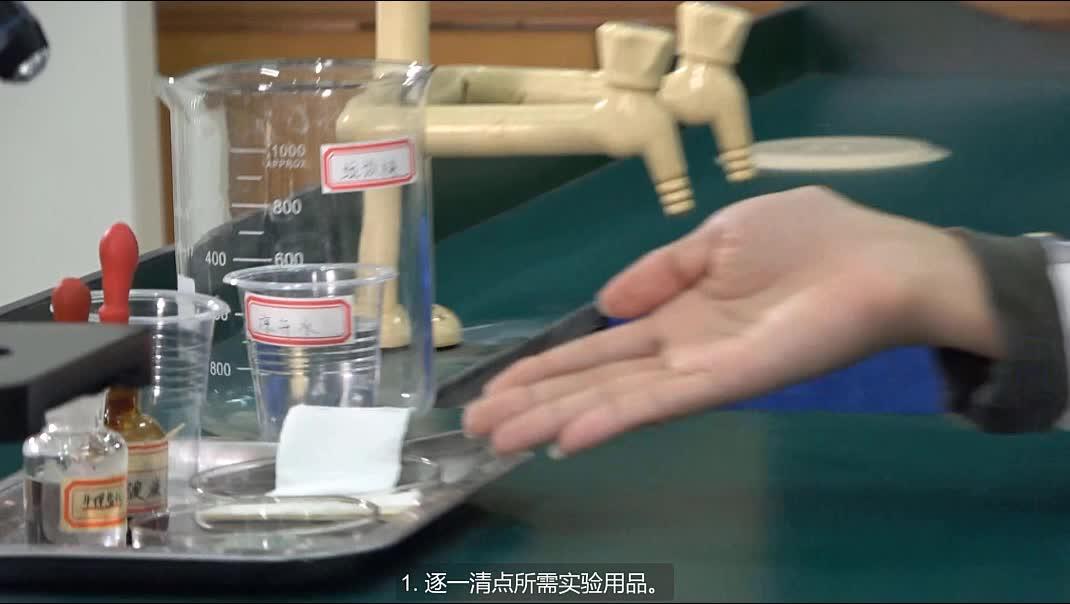 实验2 观察人口腔上皮细胞--2021年广东省东莞市初中生物实验操作水平测试规范操作视频
