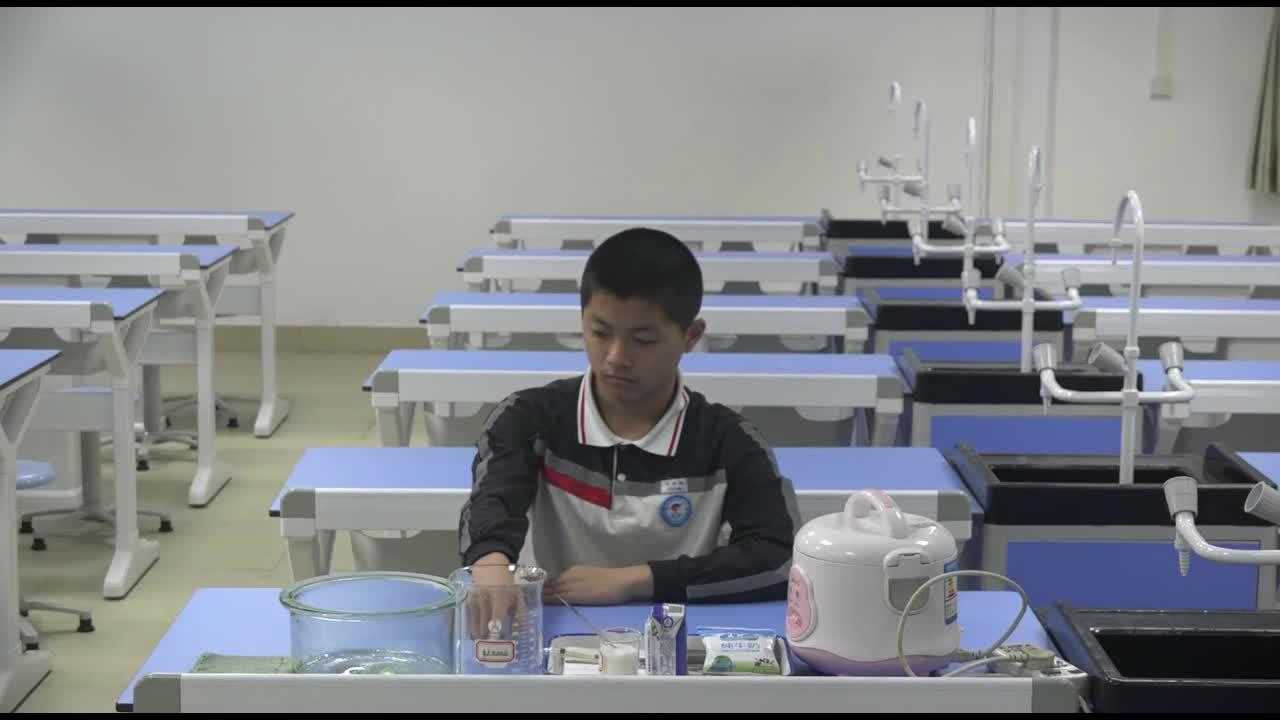 实验17 练习制作酸奶2021年广东省东莞市初中生物实验操作水平测试规范操作视频