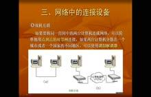 粤教版 高中信息技术 选修3 第一章 2.3网络中的连接设备-视频微课堂